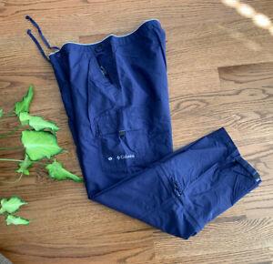 Columbia Hiking Fishing Outdoors Travel Casual Convertible Pants Women's Size L