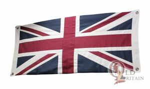 Traditional London Union Jack Flag   Double Sided   20 x 44 Inch   Stitched