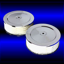 Dual Air Cleaners 6 Inch For 318 340 360 361 383 440 Mopar Chrome Set of 2