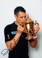 Dan CARTER Signed Autograph 11x8 Photo B AFTAL COA RUGBY World Cup WINNER