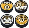 Boston Bruins Reverse Retro 3D Textured Souvenir Hockey Pucks (4-Pack)