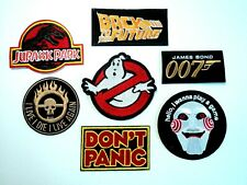 1x Movie Patches Embroidered Cloth Badge Applique Iron Sew On Mad Max 007 Saw