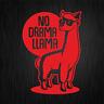 NO DRAMA LLAMA Lama Alpaca Alpaka Rot Red Fun Auto Vinyl Decal Sticker Aufkleber