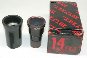 """Buhl 1.4"""" f/2.5 Super wide Slide Projector Lens -  Nice Glass."""