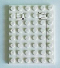92099 LEGO PIASTRA 4 x 6 con botola-CERNIERA-BIANCO 5 X NUOVO