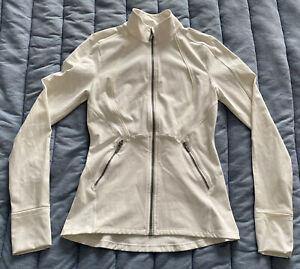 Lululemon Sleek Essentials Jacket White Full Zip W4AOYS 6 Luxtreme FREE SHIPPING