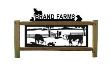 HEREFORD CATTLE - COW SIGN - FARM & RANCH - CLINGERMANS LOG SIGNS