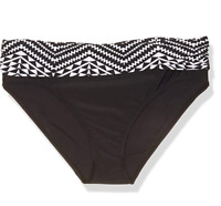 Ellen Tracy Women's Black and White Bikini Bottom Size 10 New with tags