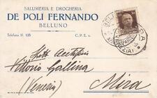 A6519) BELLUNO, SALUMERIA DROGHERIA DE POLI FERNANDO.