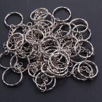 10pcs Silver  Polished Keyring Key Chain Split Ring Short Chains Gift HOT SALE