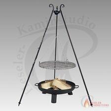 feu-pan PAN 37 Bali Ø 60cm acier brut avec trépied + Barbecue oscillant