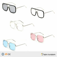Rectangle OVERSIZE Square Aviator Gold Metal Bar Men Designer Fashion Sunglasses
