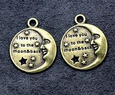 Tibetan silver charm pendant bronze Confession of love 10pcs 27x22mm 3.8g