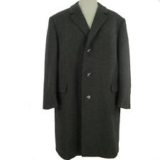 Severin Mens Overcoat 40 US 50 EU Black Pure Wool Winter Top Coat Lined Germany