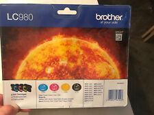 Genuine Brother LC-980 Ink Cartridges B/C/M/Y Multipack (4 Pack) LC980
