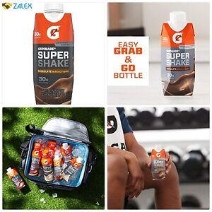 Gatorade Super Shake, Chocolate, 30g Protein, 11.16 fl oz Carton, Pack of 12