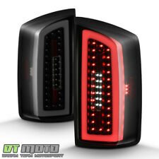2007-2008 Dodge Ram 1500 2500 3500 Black Smoke LED Tail Lights Lamps Left+Right