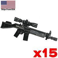 LEGO Guns G3SG1 Sniper Rifle Counterstrike CSGO Army Modern Military Weapon x15