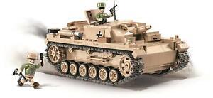 Construction Toys Building Bricks Assault Gun III Ausf.d German Tank Cannon