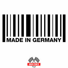 Made In Germany - Euro Decal Sticker - BMW Mercedes VW Audi Porsche Racing Track