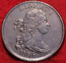 1806 Stemless Philadelphia Mint Copper Draped Bust Half Cent
