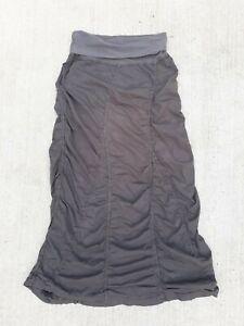 XCVI 100% Cotton Maxi Skirt Gray lagenlook Small
