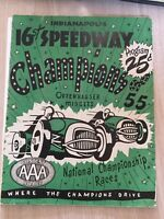 1955 Indianapolis Speedway Midgets Program Car Race Racing National