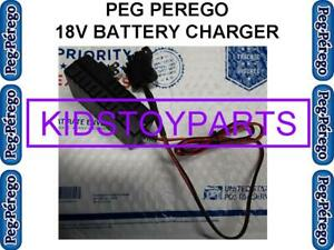 18V Volt PEG PEREGO Cars Trucks Jeeps GATORS QUAD RUNNERS Lead Acid Charger