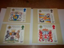 Scottish heraldry 21 July 1987 PHQ 103 set Royal Mail Stamp Card Series MINT