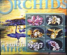 GAMBIA 2001 4471-82 Block 568-69 Orchideen Orchids Blumen Flowers Flora MNH