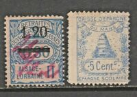 France Revenue fiscal  cinderella stamp 12-14- School Savings + Alsace