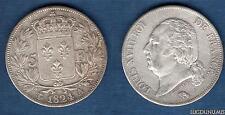 Louis XVIII 1815 - 1824 , 5 Francs Buste nu 1824 A Paris  TB / TTB