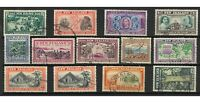 New Zealand 1940 Centennial Set of 13 Stamps SG613/25 CDS Cancels FU (10 Sets)