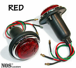 Austin, 100-4, Jaguar, MGTD TF, Morgan LUCAS L488 Stop Lamps RED