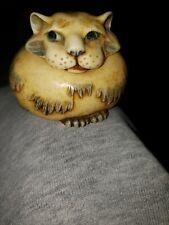 """2001 Harmony Kingdom Pot Bellys """"Janus"""" Mini Trinket Jar Fat Orange Cat Tabby"""