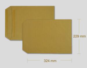 C4 Size Plain Brown Envelopes Self Sealing Manilla 90 gsm Various Qty