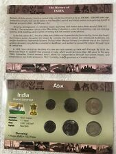 INDIA : 6 COIN  PAISE & RUPEES (1988-2003)  BU SET IN ORIGINAL PACK AND HISTORY.
