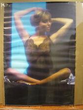 Vintage 1986 Girl in Blue poster hot girl man cave car garage  3674