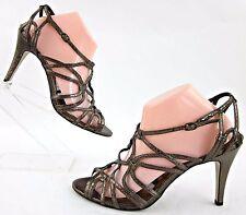 Nine West Strappy High Heel Pumps Bronze Metallic 9.5M Worn Once!