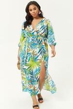 2e7e294e7d1 Forever 21 Plus Size Palm Leaf Print Maxi Dress 0X 2X 3X