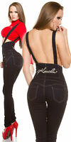 Women's Clubbing Jeans Top Ladies Party Trouser High Waist Pants size 6 8 10 12