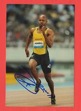 ORIG. AUTOGRAFO Asafa Powell (Jamaica) - Olympia vincitore 2008 4 x 100 M! rarità