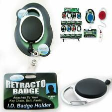 Retractable ID Badge Holder Reel Clip Attaches Key Chain Belts Pants 25 Piece