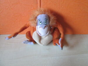 2000 McDonalds King Louie Disney Jungle Book Bean  Plush Toy high 5""
