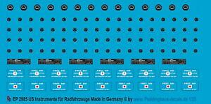 Peddinghaus-Decals 1/35 2985 Instrumente für US Fahrzeuge, Jeep und andere Radfa