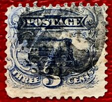 1869 US Stamps SC#114 3c Locomotive Fancy Canceled