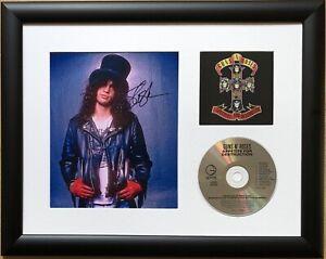 Slash / Guns n Roses / Signed Photo / Autograph / Framed / COA