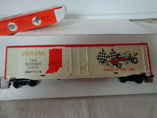"NIB MANTUA STATE BOXCAR INDIANA THE HOOSIER STATE HOME OF THE ""500"""