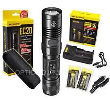 Nitecore EC20 960 Lumens LED Flashlight w/ Deluxe Recharge Kit & Bonus Holster