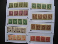 CANADA 9 different MNH coil strips of 4 worth checking them out!
